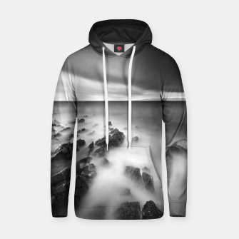 Thumbnail image of Dramatic rocky shore Hoodie, Live Heroes
