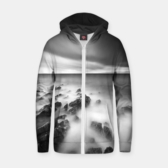 Thumbnail image of Dramatic rocky shore Zip up hoodie, Live Heroes