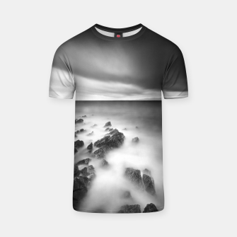 Thumbnail image of Dramatic rocky shore T-shirt, Live Heroes