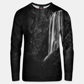 Thumbnail image of Majestic waterfall Boka in Slovenia Unisex sweater, Live Heroes