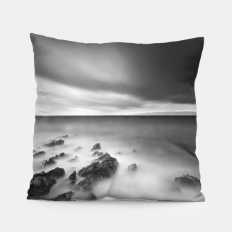 Thumbnail image of Dramatic rocky shore Pillow, Live Heroes