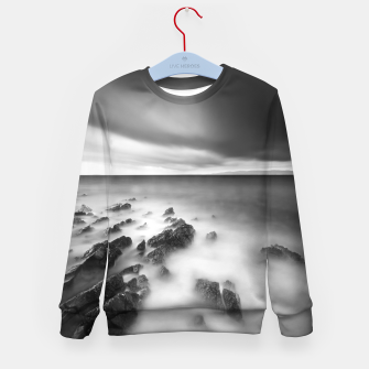 Thumbnail image of Dramatic rocky shore Kid's sweater, Live Heroes
