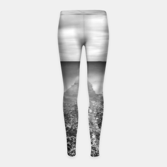Thumbnail image of Disappearing pier in sea Girl's leggings, Live Heroes