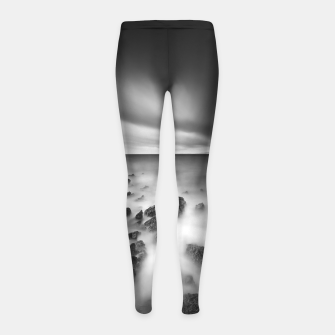 Thumbnail image of Dramatic rocky shore Girl's leggings, Live Heroes