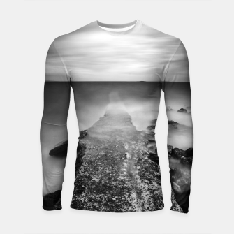 Thumbnail image of Disappearing pier in sea Longsleeve rashguard , Live Heroes