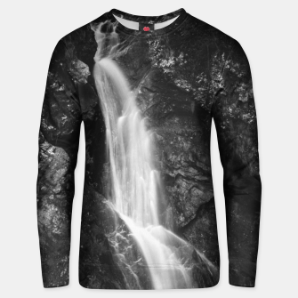 Thumbnail image of Waterfall in Hell Gorge, Slovenia Unisex sweater, Live Heroes