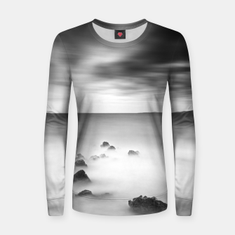 Thumbnail image of Rocky and milky sea Women sweater, Live Heroes