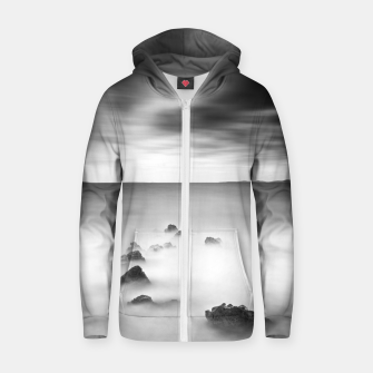 Thumbnail image of Rocky and milky sea Zip up hoodie, Live Heroes