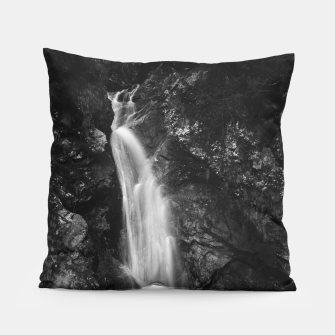 Miniatur Waterfall in Hell Gorge, Slovenia Pillow, Live Heroes