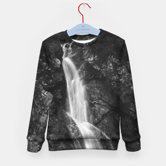 Miniatur Waterfall in Hell Gorge, Slovenia Kid's sweater, Live Heroes