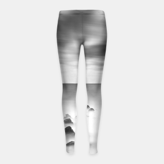 Thumbnail image of Rocky and milky sea Girl's leggings, Live Heroes