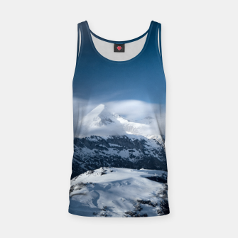 Thumbnail image of Clouds rolling above snowy mountains Tank Top, Live Heroes