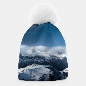 Miniaturka Clouds rolling above snowy mountains Beanie, Live Heroes