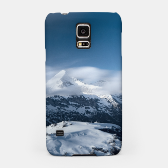 Miniaturka Clouds rolling above snowy mountains Samsung Case, Live Heroes