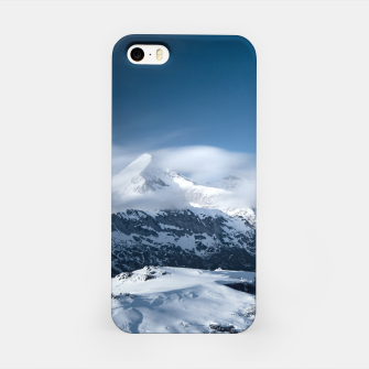 Miniaturka Clouds rolling above snowy mountains iPhone Case, Live Heroes