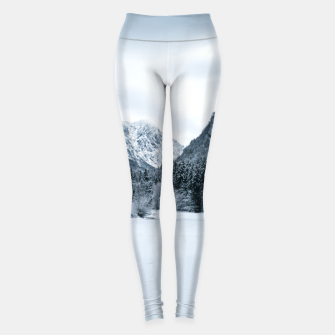 Miniature de image de Mountains and frozen lake Zgornje Jezersko Leggings, Live Heroes