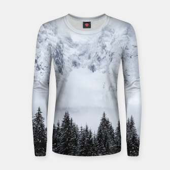 Miniature de image de Snowy mountains and spruce forest Women sweater, Live Heroes
