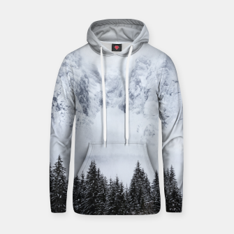 Miniature de image de Snowy mountains and spruce forest Hoodie, Live Heroes
