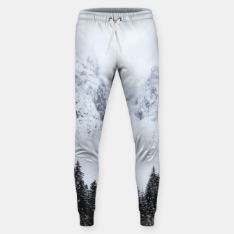 Miniaturka Snowy mountains and spruce forest Sweatpants, Live Heroes