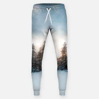 Thumbnail image of Sun behind spruce trees Sweatpants, Live Heroes