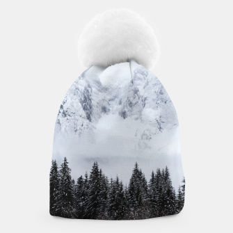 Miniaturka Snowy mountains and spruce forest Beanie, Live Heroes