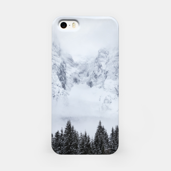 Miniaturka Snowy mountains and spruce forest iPhone Case, Live Heroes