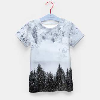 Miniaturka Snowy mountains and spruce forest Kid's t-shirt, Live Heroes