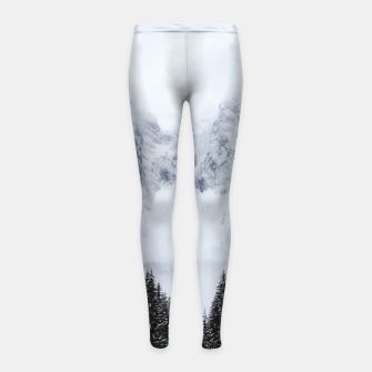 Miniaturka Snowy mountains and spruce forest Girl's leggings, Live Heroes