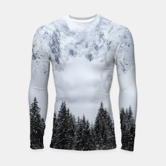 Thumbnail image of Snowy mountains and spruce forest Longsleeve rashguard , Live Heroes