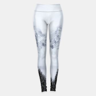 Miniature de image de Snowy mountains and spruce forest Leggings, Live Heroes