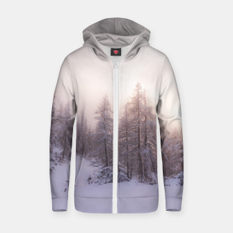 Miniature de image de Sunlight and spruce forest Zip up hoodie, Live Heroes