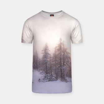 Miniature de image de Sunlight and spruce forest T-shirt, Live Heroes
