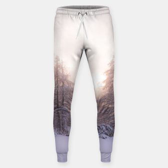 Thumbnail image of Sunlight and spruce forest Sweatpants, Live Heroes