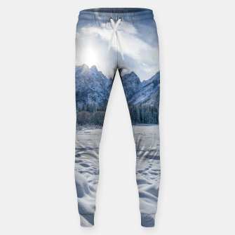 Thumbnail image of Sunny winter day at snowy frozen lake Fusine Sweatpants, Live Heroes