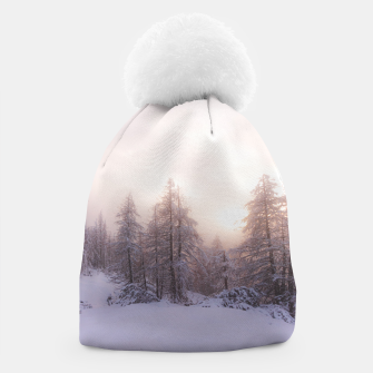 Miniature de image de Sunlight and spruce forest Beanie, Live Heroes