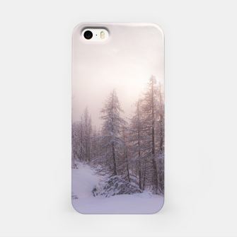 Miniature de image de Sunlight and spruce forest iPhone Case, Live Heroes