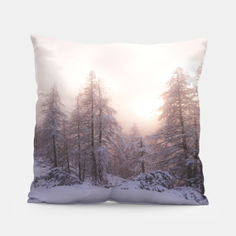 Miniature de image de Sunlight and spruce forest Pillow, Live Heroes