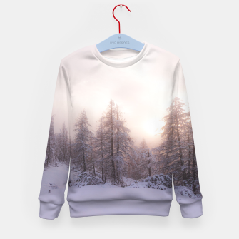 Miniature de image de Sunlight and spruce forest Kid's sweater, Live Heroes