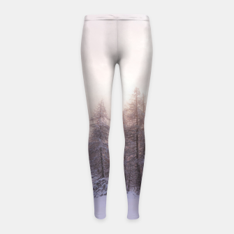 Miniature de image de Sunlight and spruce forest Girl's leggings, Live Heroes