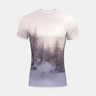 Miniature de image de Sunlight and spruce forest Shortsleeve rashguard, Live Heroes