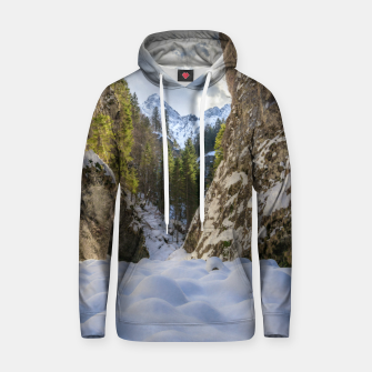 Miniatur Winter and spring valley and mountains Hoodie, Live Heroes