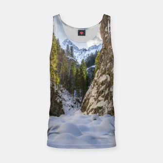 Miniatur Winter and spring valley and mountains Tank Top, Live Heroes