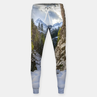 Miniatur Winter and spring valley and mountains Sweatpants, Live Heroes