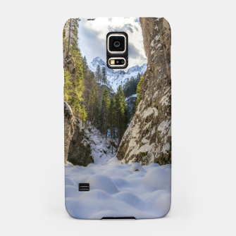 Miniatur Winter and spring valley and mountains Samsung Case, Live Heroes