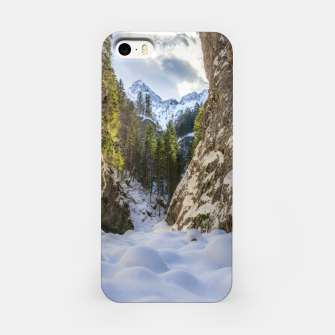 Miniatur Winter and spring valley and mountains iPhone Case, Live Heroes