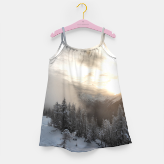 Thumbnail image of Sun shining at stunning winter scenery Girl's dress, Live Heroes