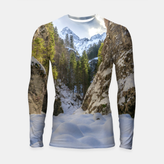 Thumbnail image of Winter and spring valley and mountains Longsleeve rashguard , Live Heroes