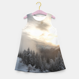 Miniaturka Sun shining at stunning winter scenery Girl's summer dress, Live Heroes