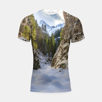 Miniaturka Winter and spring valley and mountains Shortsleeve rashguard, Live Heroes