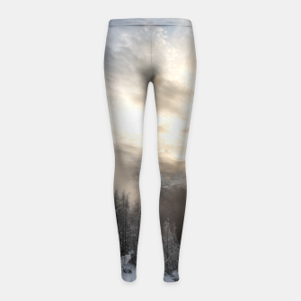 Miniaturka Sun shining at stunning winter scenery Girl's leggings, Live Heroes